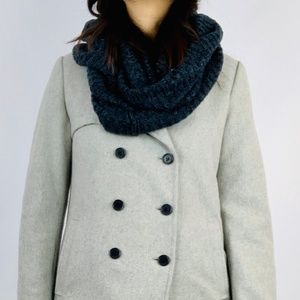 Levis Infinity Bluish Gray Knitted Scarf